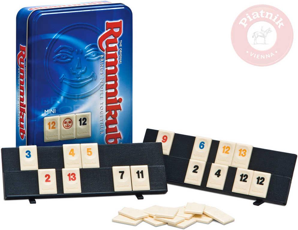 PIATNIK Hra Rummikub mini plechová krabička *SPOLEČENSKÉ HRY*