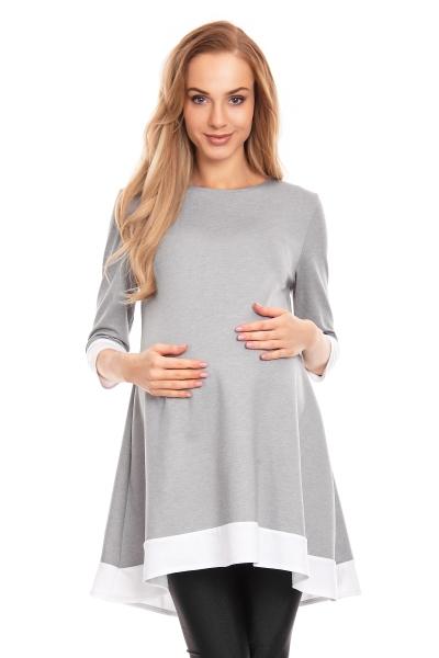 Be MaaMaa Těhotenské asymetrické mini šaty/tunika