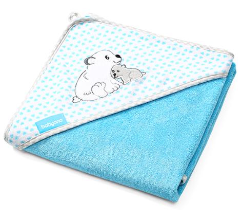 babyono-bambusova-osuska-s-kapuci-medvidek-modra-100-x-100-cm