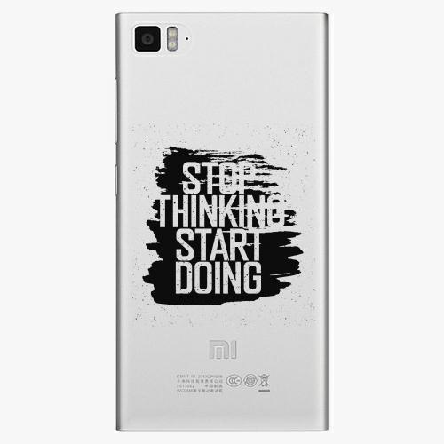 Plastový kryt iSaprio - Start Doing - black - Xiaomi Mi3
