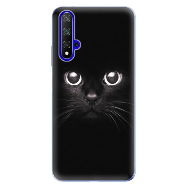 Odolné silikonové pouzdro iSaprio - Black Cat - Huawei Honor 20