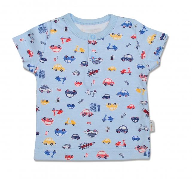 Bavlněné Polo tričko Veselé autíčko - krátký