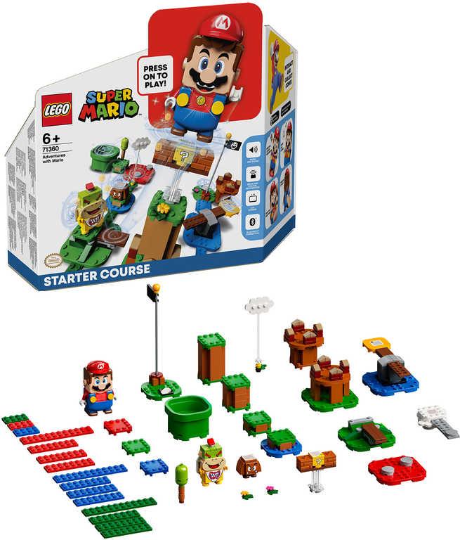 LEGO SUPER MARIO Dobrodružství s Mariem startovací set 71360 STAVEBNICE