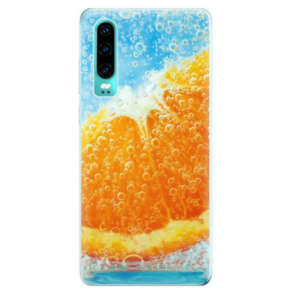 Odolné silikonové pouzdro iSaprio - Orange Water - Huawei P30