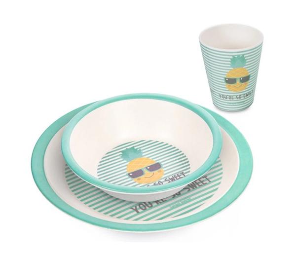 Canpol Babies Bambusová eko sada dětského nádobí 3 ks - Ananas