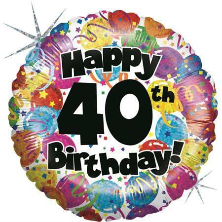 Nafukovací balónek k 40. narozeninám 46cm