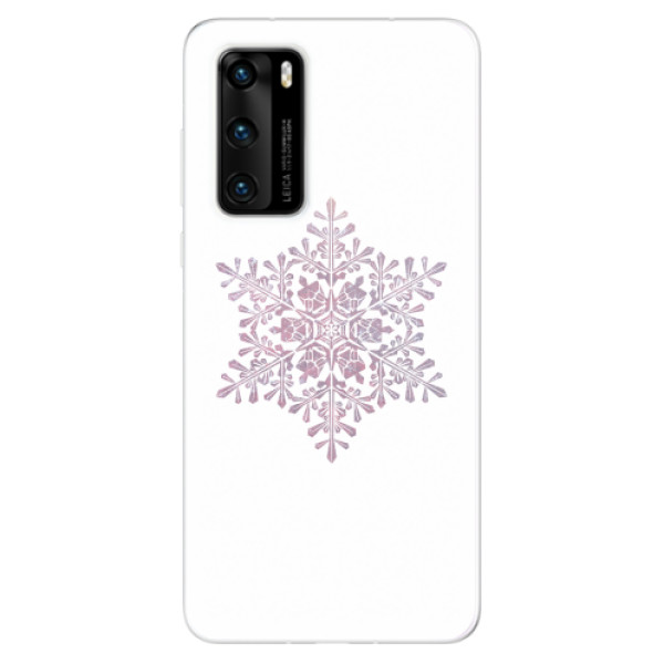 Odolné silikonové pouzdro iSaprio - Snow Flake - Huawei P40