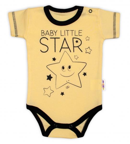 Body krátký rukáv Baby Nellys, Baby Little Star
