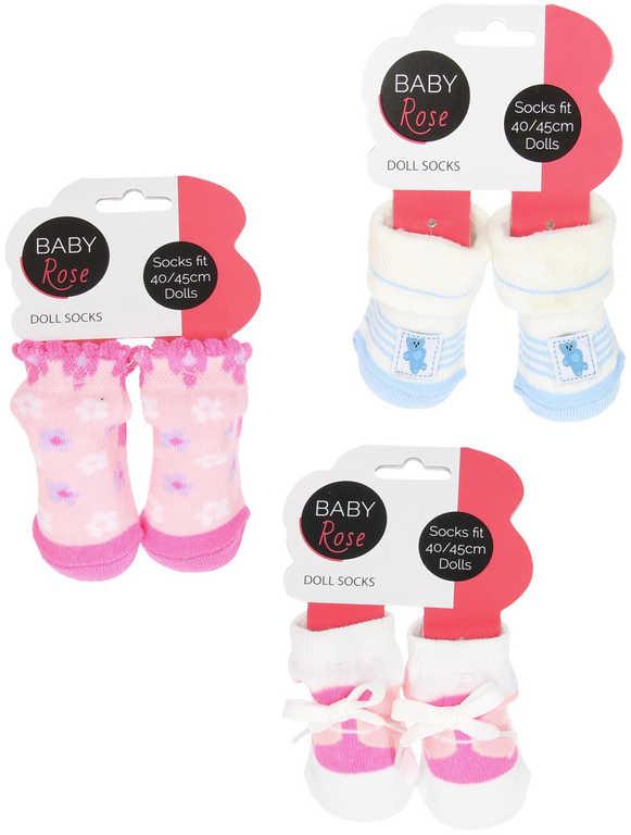 Baby Rose Ponožky pro panenku miminko (40-45cm) 1 pár 6 druhů