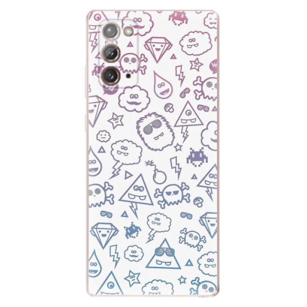 Odolné silikonové pouzdro iSaprio - Funny Clouds - Samsung Galaxy Note 20