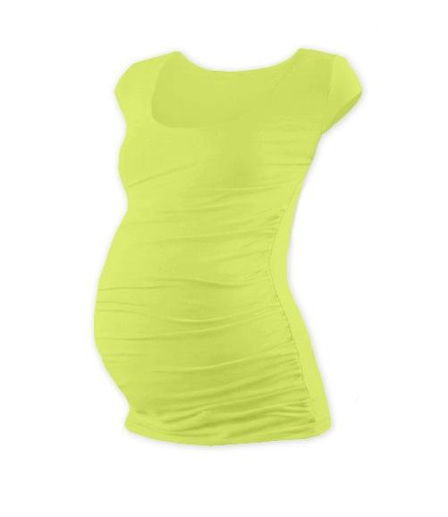 Těhotenské triko mini rukáv JOHANKA - sv. zelená