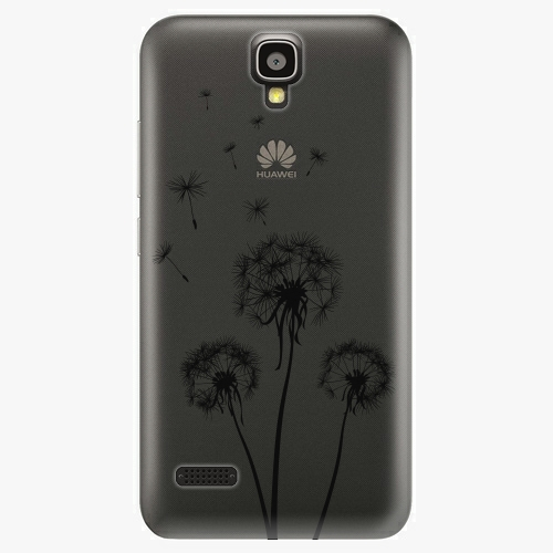 Plastový kryt iSaprio - Three Dandelions - black - Huawei Ascend Y5
