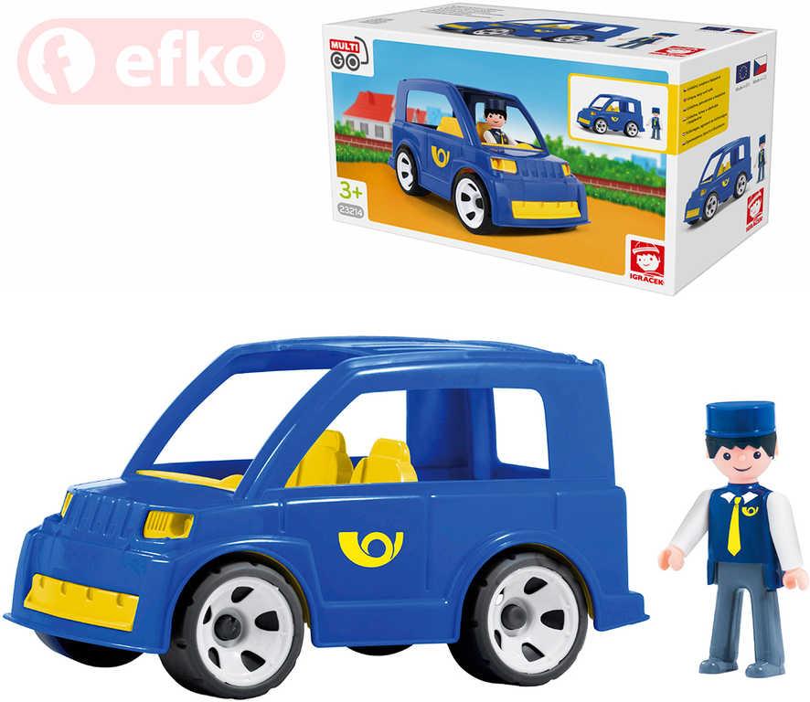EFKO IGRÁČEK MultiGO Pošťák set poštovní auto s figurkou STAVEBNICE