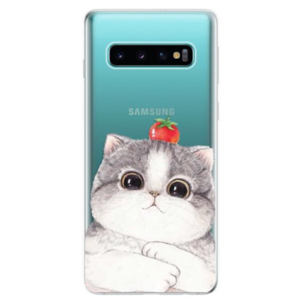 Odolné silikonové pouzdro iSaprio - Cat 03 - Samsung Galaxy S10