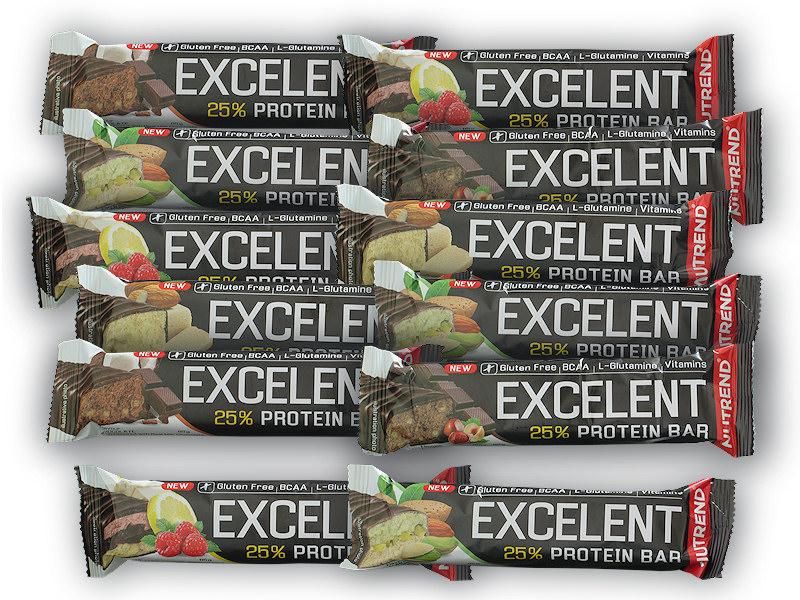 10x Excelent 25% Protein Bar 85g + 2x