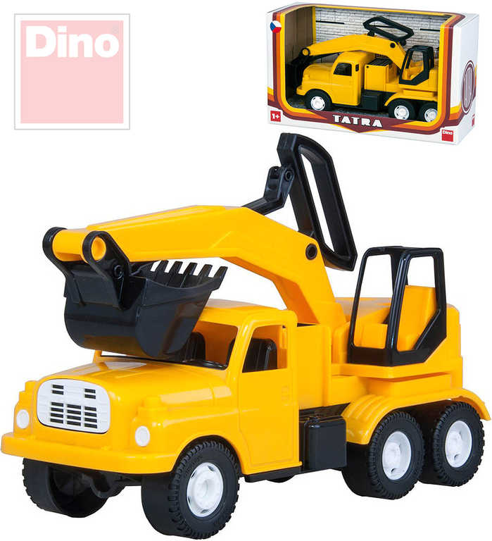 DINO Tatra auto nákladní žluté T148 Bagr 30 cm na písek plast