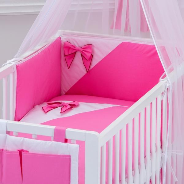 Bavlněné povlečení - Mašle - růžové vzor: 115 - 135x100