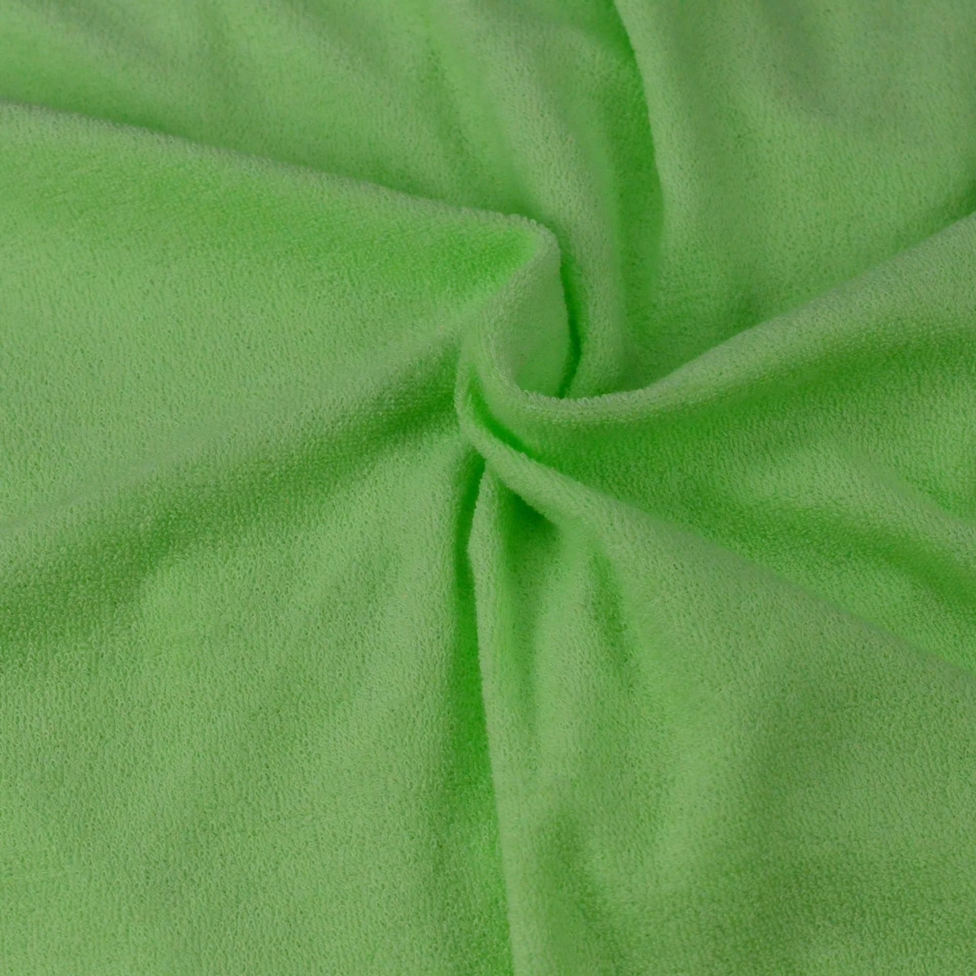 Froté prostěradlo světle zelené, Výběr rozměru - 80x200cm