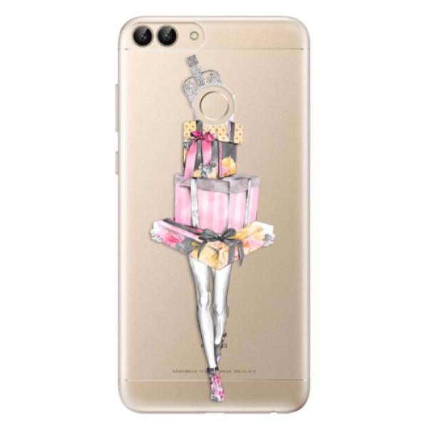 Odolné silikonové pouzdro iSaprio - Queen of Shopping - Huawei P Smart