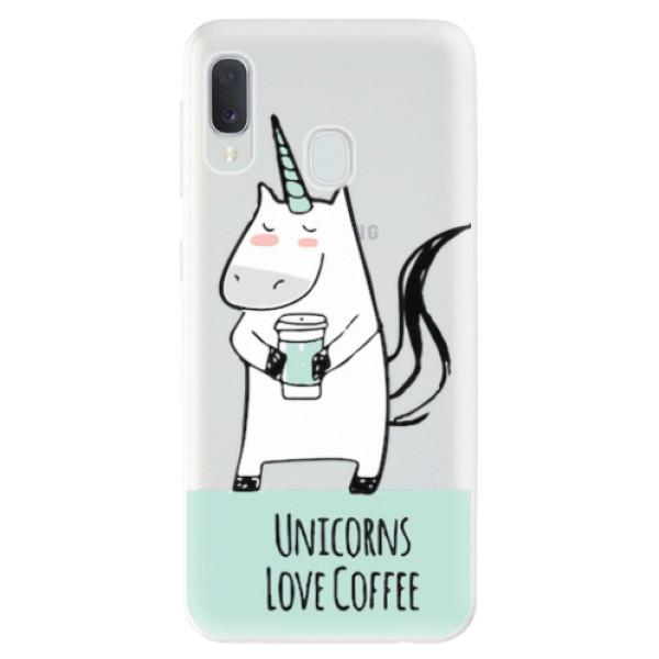 Odolné silikonové pouzdro iSaprio - Unicorns Love Coffee - Samsung Galaxy A20e