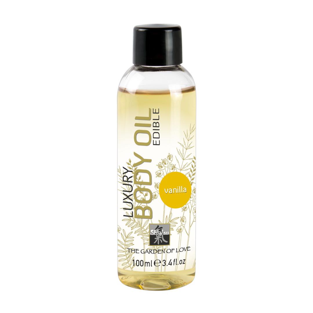 Erotický masážní olej vanilka Shiatsu