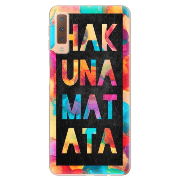 Odolné silikonové pouzdro iSaprio - Hakuna Matata 01 - Samsung Galaxy A7 (2018)