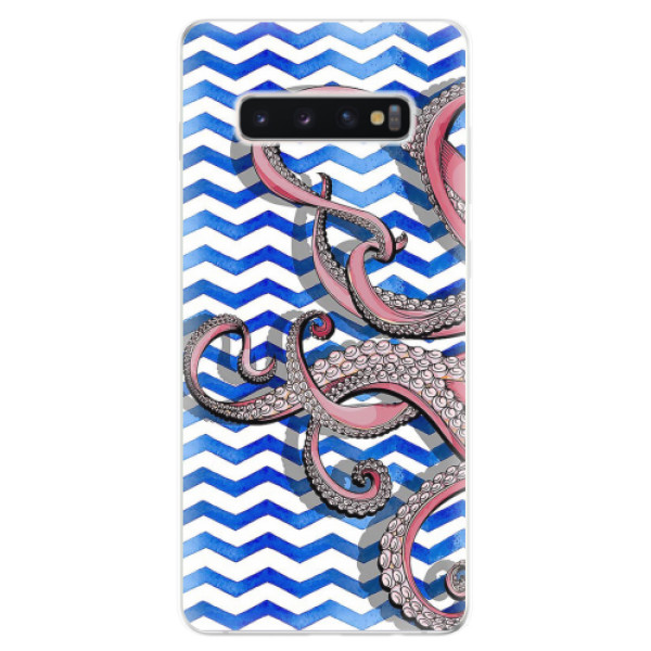 Odolné silikonové pouzdro iSaprio - Octopus - Samsung Galaxy S10+