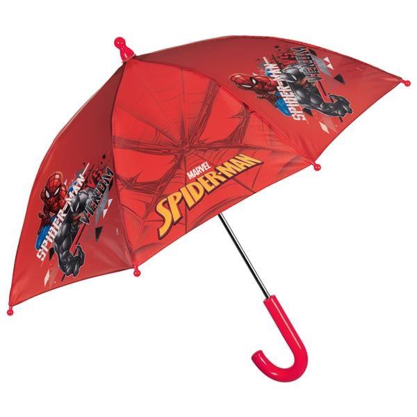 Chlapecký deštník Perletti Spiderman - červená