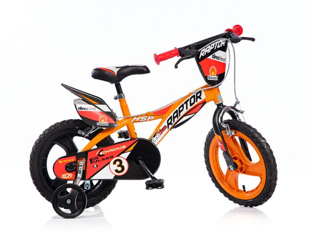 """Kolo dětské kolo Dino 14"""" oranžové"""