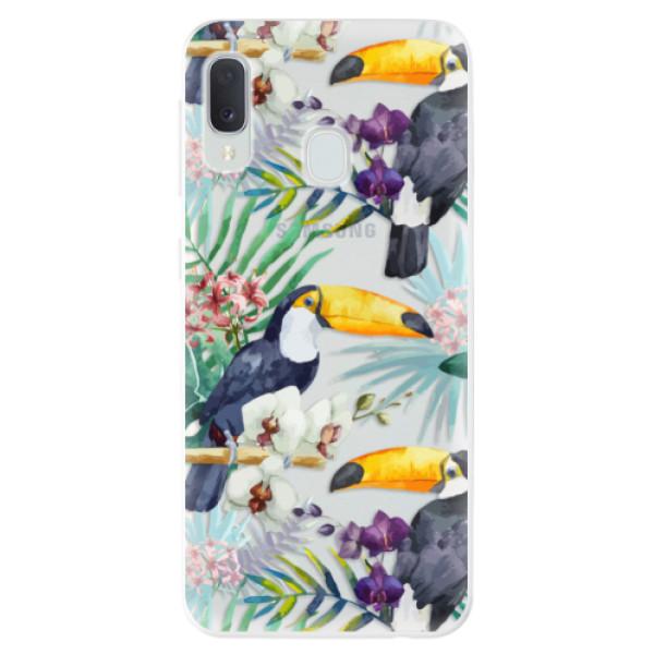 Odolné silikonové pouzdro iSaprio - Tucan Pattern 01 - Samsung Galaxy A20e
