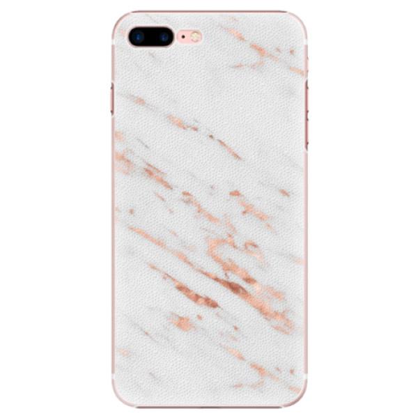 Plastové pouzdro iSaprio - Rose Gold Marble - iPhone 7 Plus
