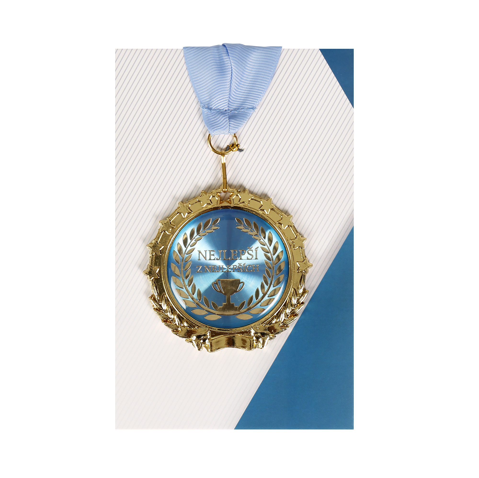 Přání s medailí - Jsi nejlepší