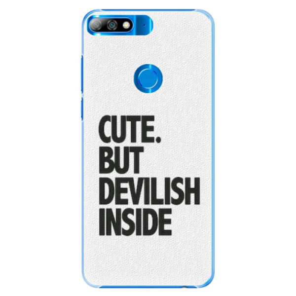 Plastové pouzdro iSaprio - Devilish inside - Huawei Y7 Prime 2018