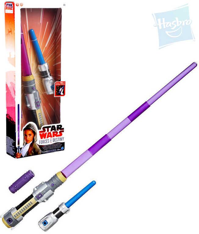 HASBRO Meč světelný Star Wars teleskopický na baterie Světlo Zvuk plast