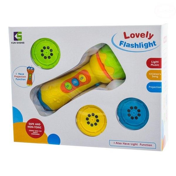 Euro Baby Dětský projektor - BATERKA - žlutý