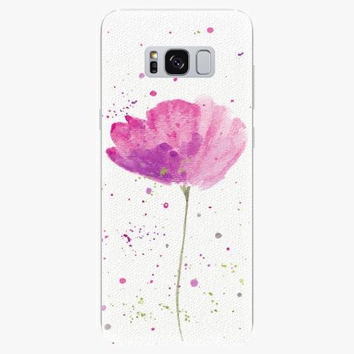 Silikonové pouzdro iSaprio - Poppies - Samsung Galaxy S8