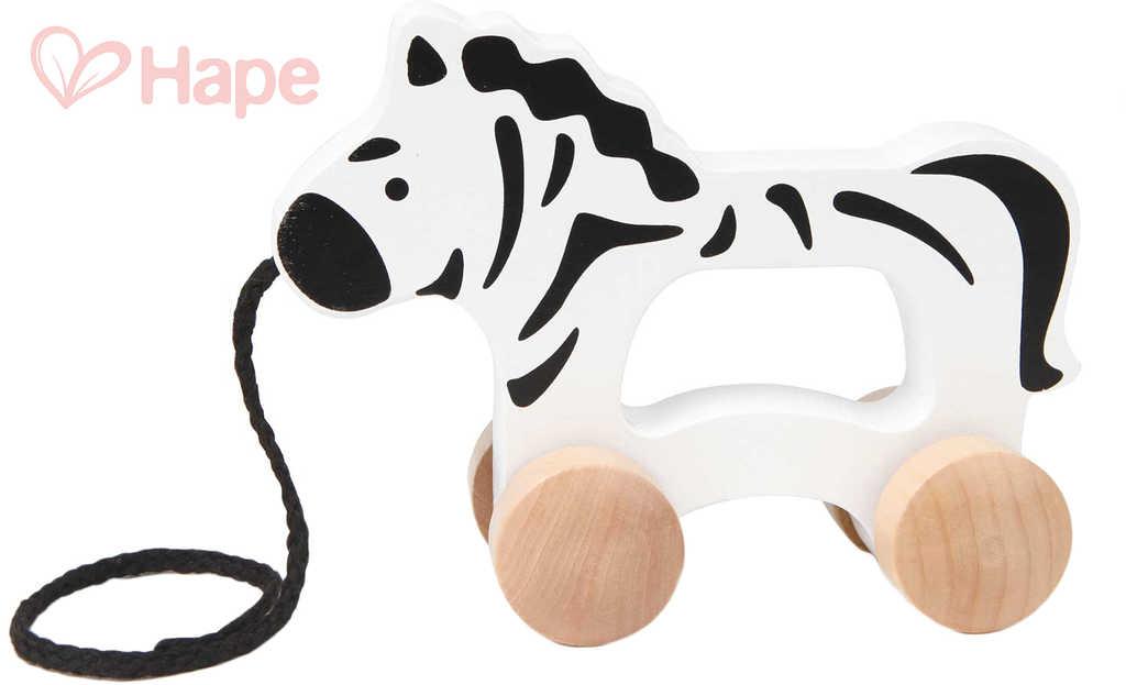 HAPE DŘEVO Baby zebra tahací pro miminko *DŘEVĚNÉ HRAČKY*