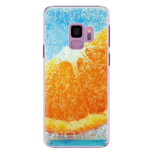 Plastové pouzdro iSaprio - Orange Water - Samsung Galaxy S9