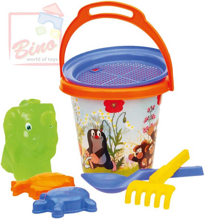 BINO Set s kyblíkem Krtek (krteček) na písek s konvičkou