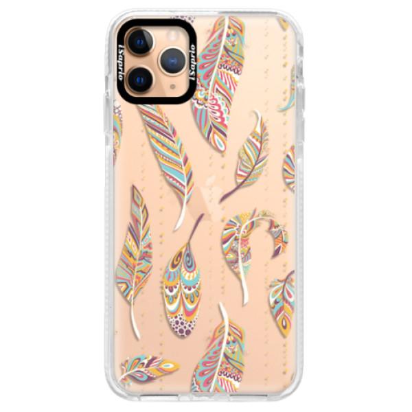 Silikonové pouzdro Bumper iSaprio - Feather pattern 02 - iPhone 11 Pro Max