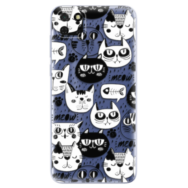Odolné silikonové pouzdro iSaprio - Cat pattern 03 - Huawei Y5p