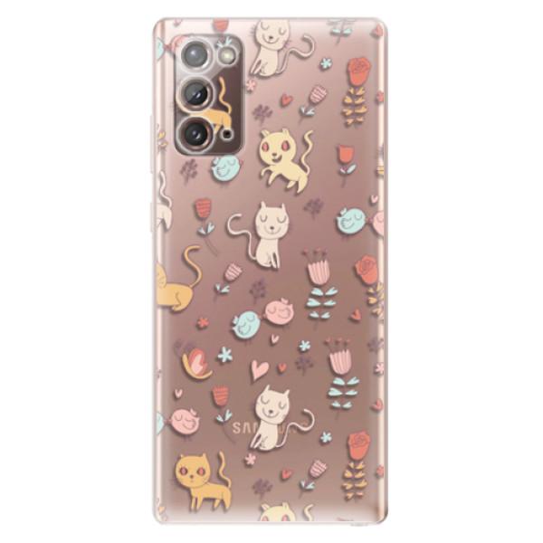 Odolné silikonové pouzdro iSaprio - Cat pattern 02 - Samsung Galaxy Note 20