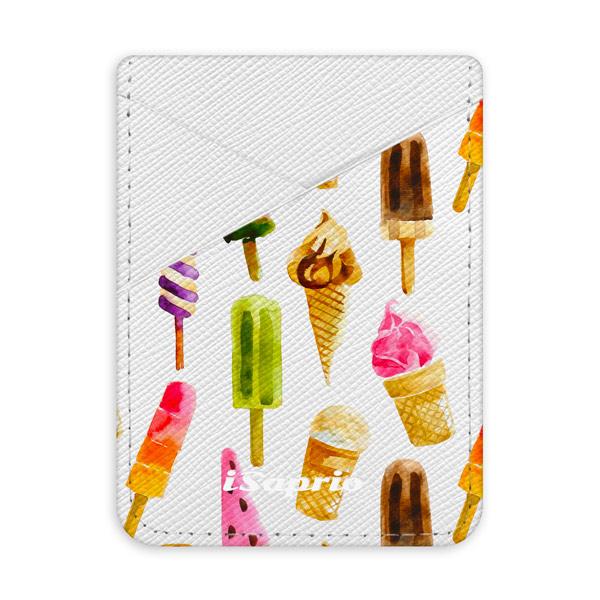 Pouzdro na kreditní karty iSaprio - Ice Cream - světlá nalepovací kapsa
