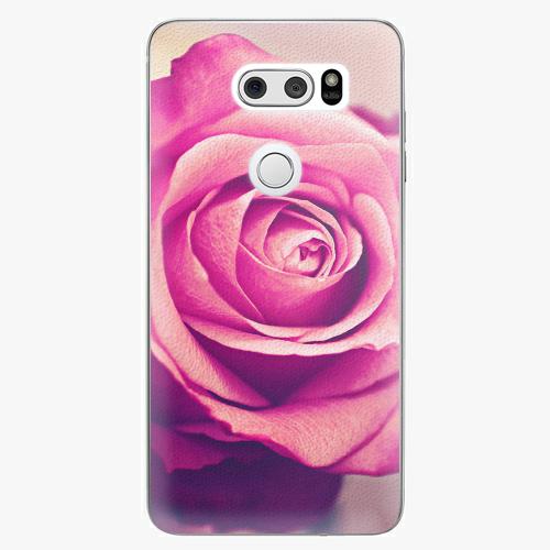 Plastový kryt iSaprio - Pink Rose - LG V30