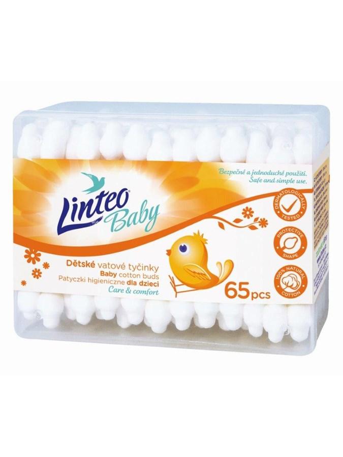 Papírové vatové tyčinky 100% natural Linteo