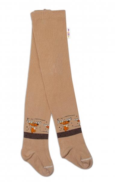 Baby Nellys Dětské punčocháče bavlněné, Los, jeans, 1ks, hnědé