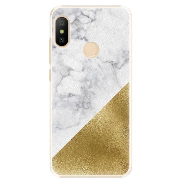 Plastové pouzdro iSaprio - Gold and WH Marble - Xiaomi Mi A2 Lite
