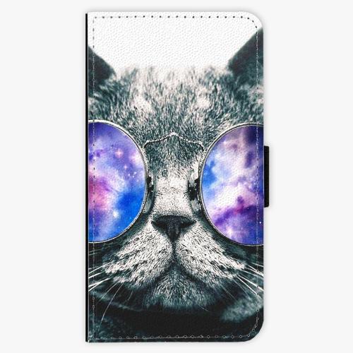 Flipové pouzdro iSaprio - Galaxy Cat - Lenovo Moto G4 / G4 Plus