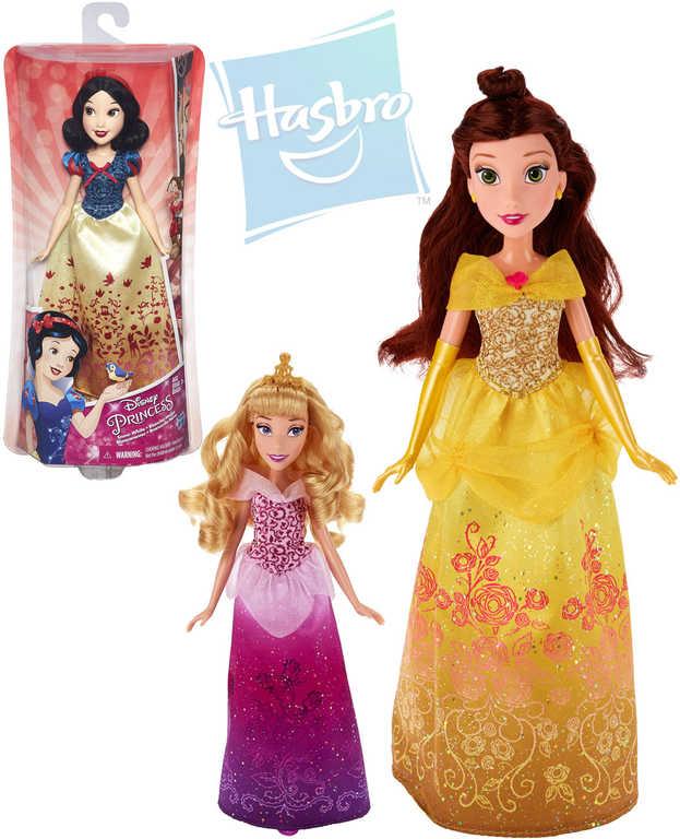HASBRO Disney Princess panenka 30cm princezna bohatě zdobené šaty 4 druhy