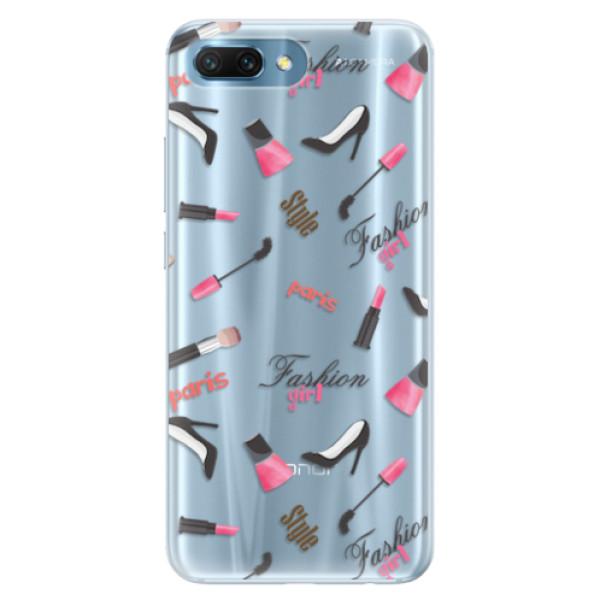 Silikonové pouzdro iSaprio - Fashion pattern 01 - Huawei Honor 10